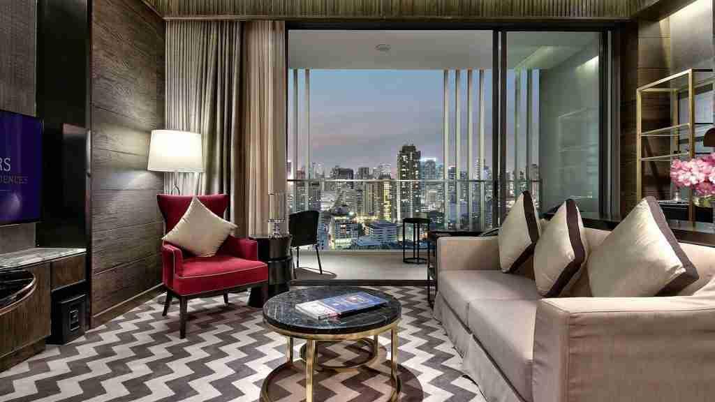 interior of the luxury hotel 137 pillars in Bangkok