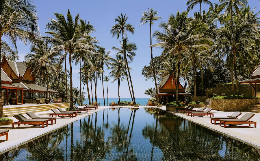 pool side view of Anampuri Phuket in Thailand