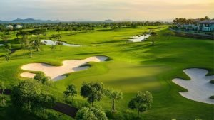 beautiful golf course in Thailand