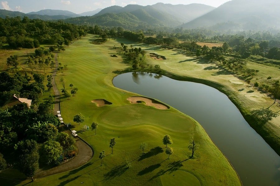 Golf course of Chiang Mai highlands golf and spa resort in Thailand