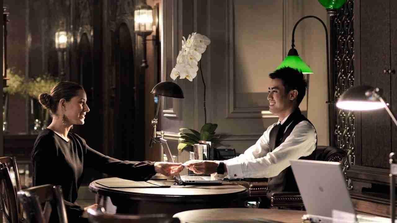 concierge at a hotel in Bangkok