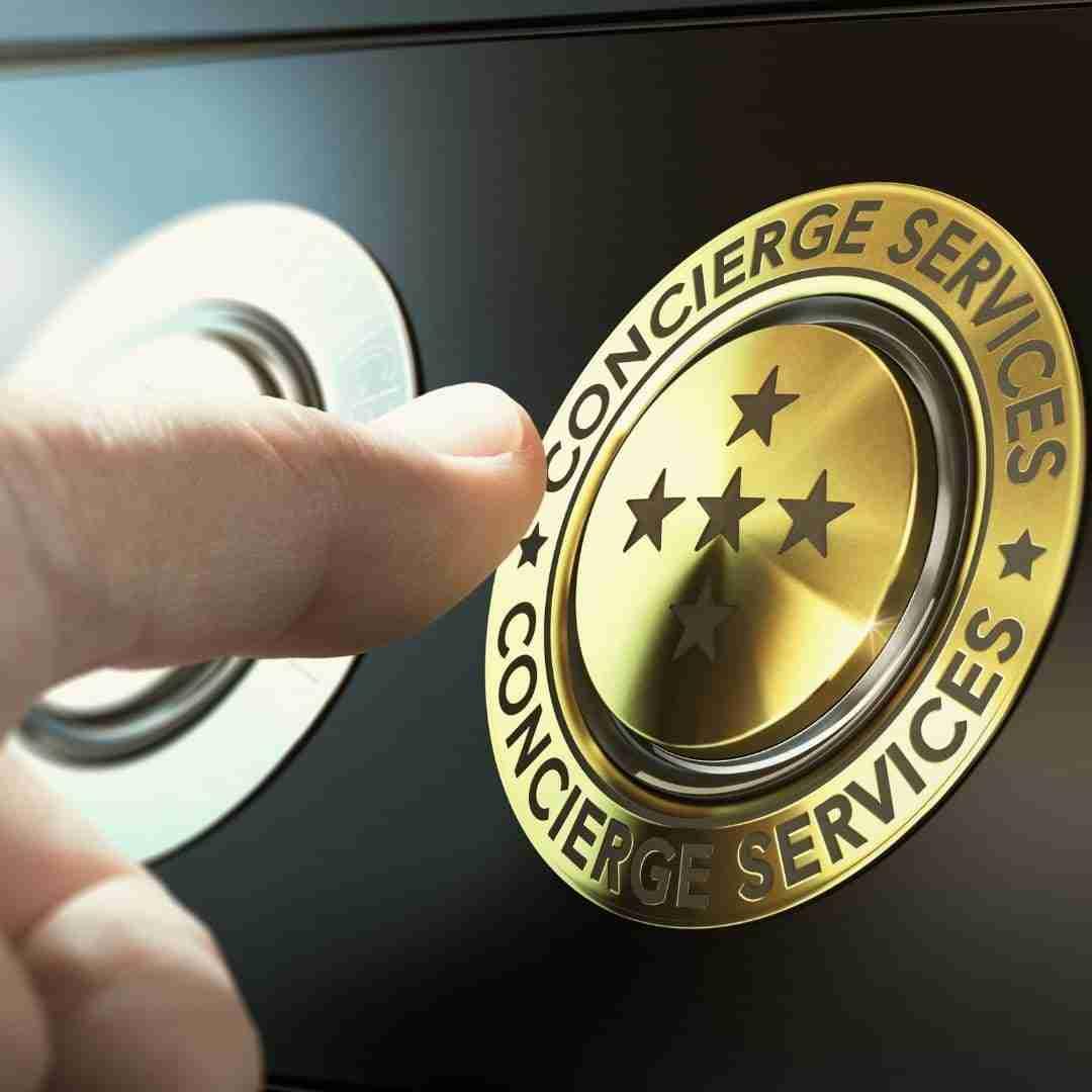 concierge services button