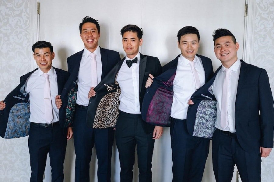 asian men with custom suits from Crowns Tailor in Bangkok