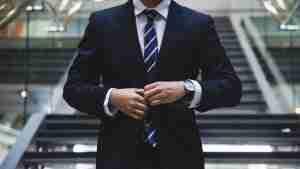 men with a custom suit