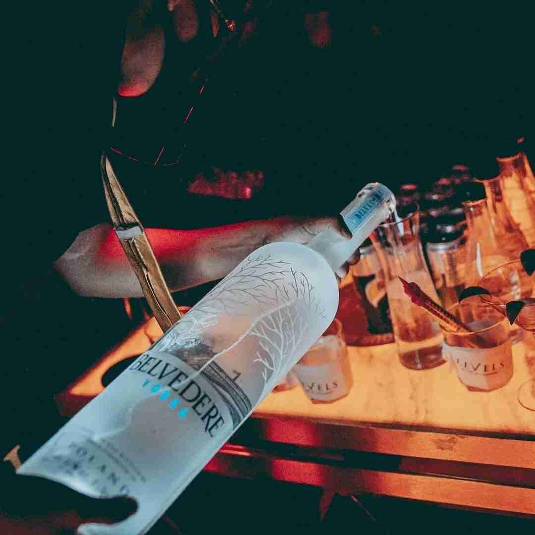 VIP service at a nightclub in Bangkok
