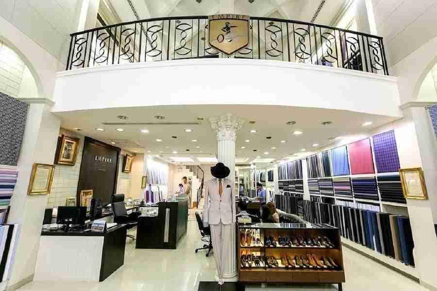 interior of Empire Tailors in Bangkok
