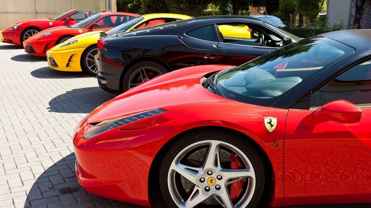 collection of ferrari sports cars in Thailand