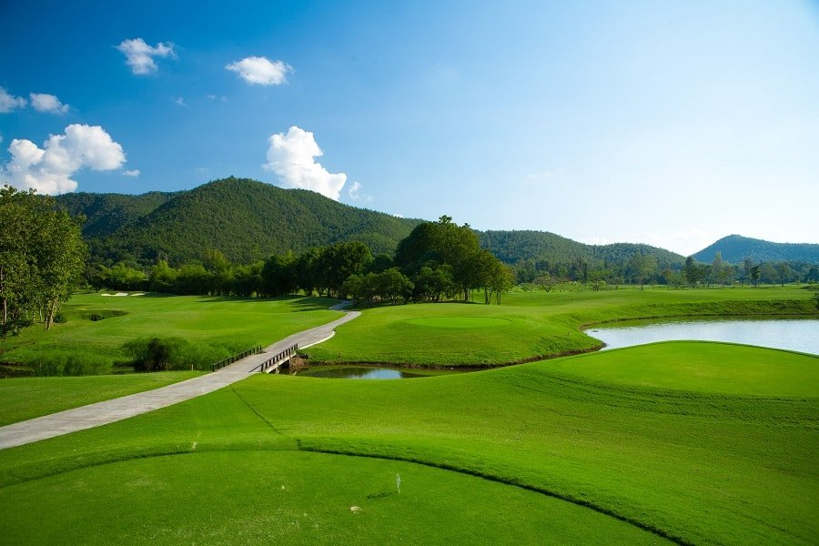 golf course of Santibury country club in Chiang Rai