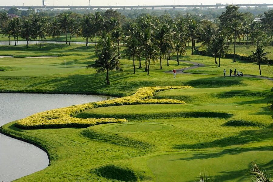 golf course of the Thai Country club in Bangkok