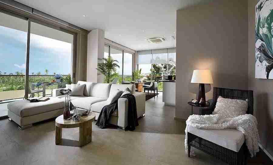 interior of the penthouse at Bangsaray Luxury Condo in Pattaya Thailand