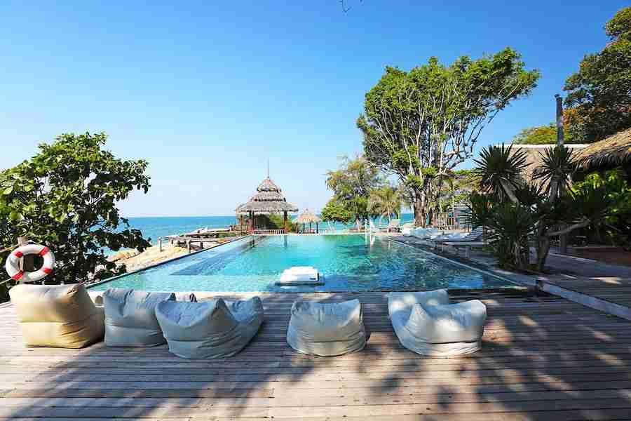 pool side at Koh Munnork Island in Thailand