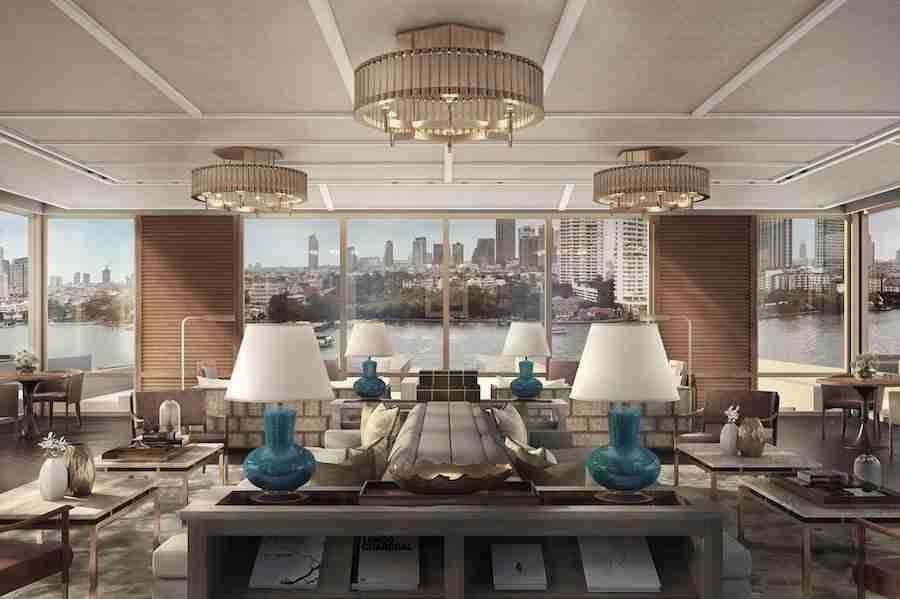 luxury interior of the hotel Capella Bangkok