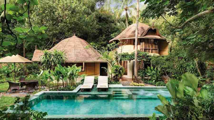 View of the Phranang pool villa 404 at Rayavadee Resort in Krabi Thailand