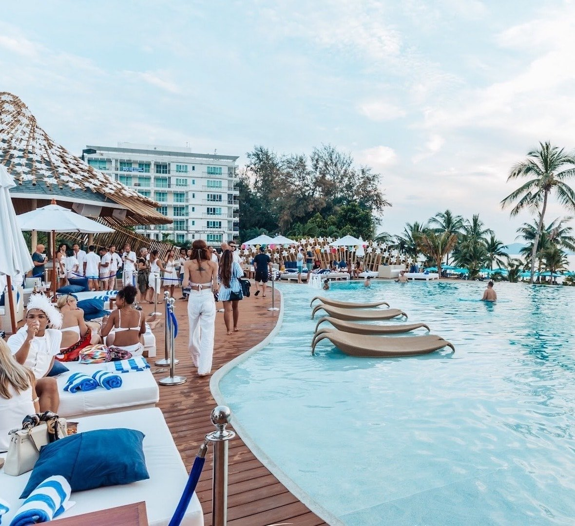 luxury pool party in Pattaya