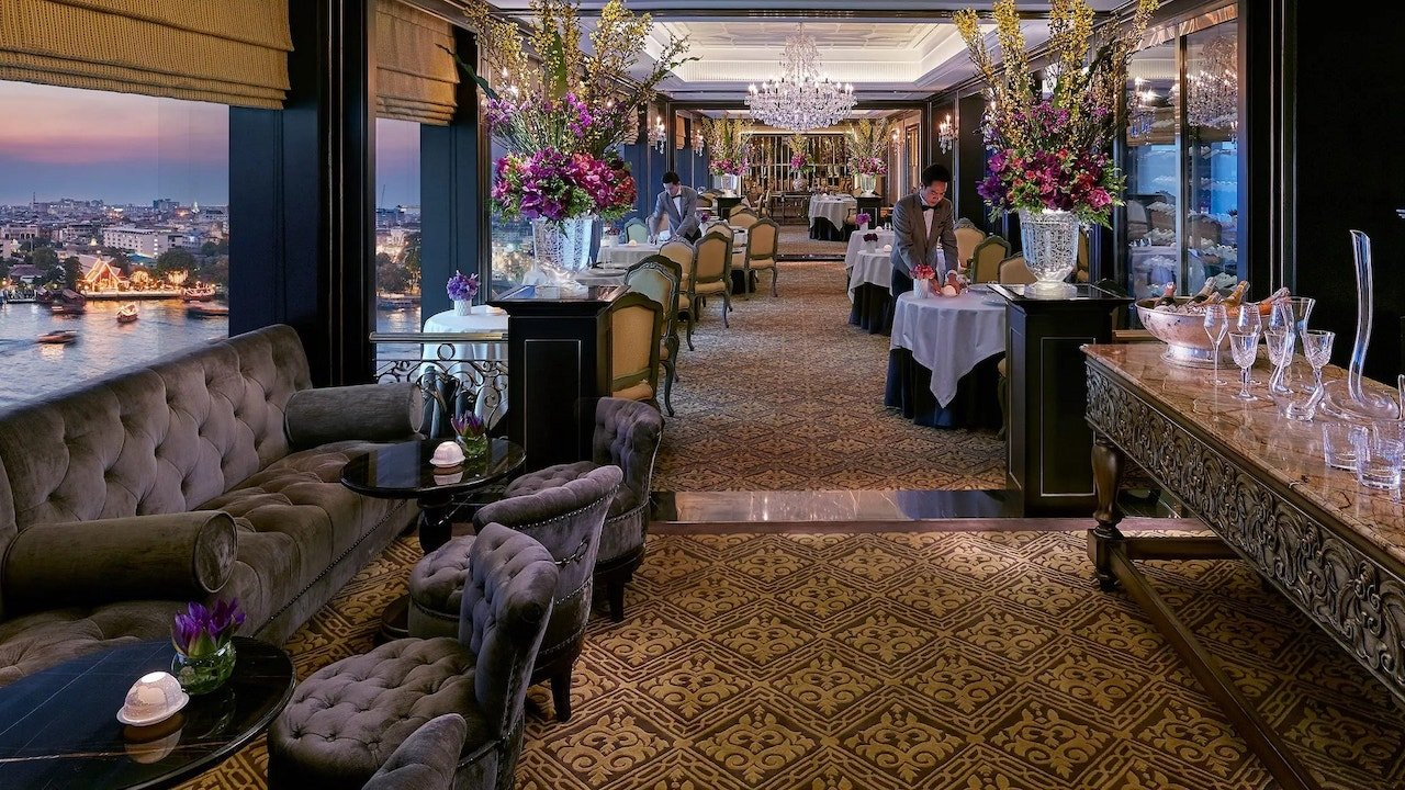 interior of the restaurant Le Normandie in Bangkok
