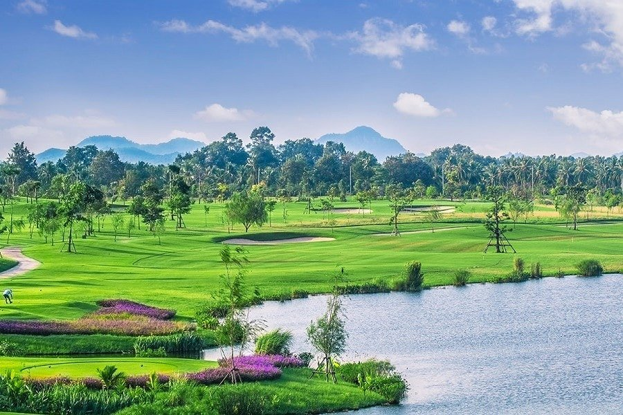 golf course of Siam country club in Pattaya Thailand