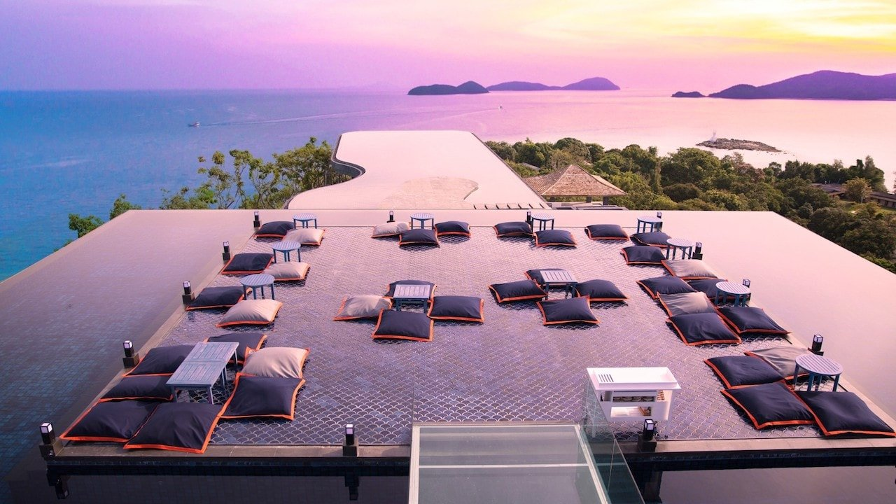 sri panwa luxury rooftop bar in Phuket Thailand