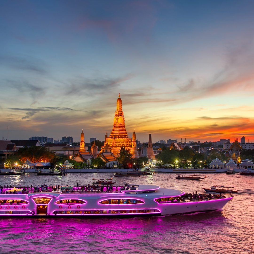 sunset cruise in Bangkok Thailand