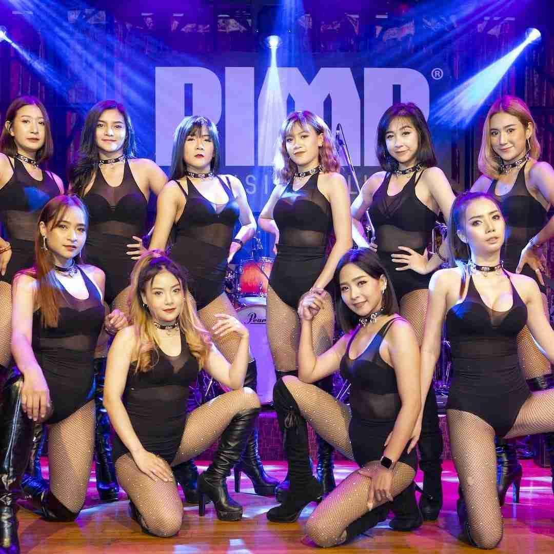 group of girls from The PIMP Bangkok gentlemen club