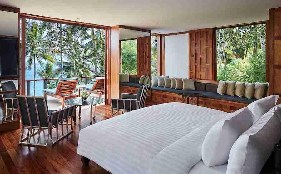 interior of the two bedroom ocean villa in Amanpuri in Phuket Thailand