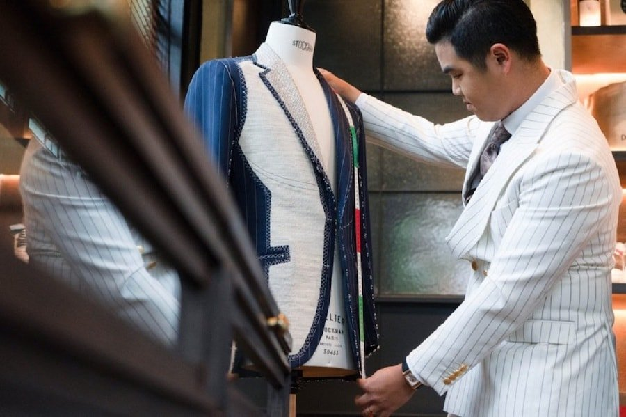 staff at Urban Dude Tailor in Bangkok