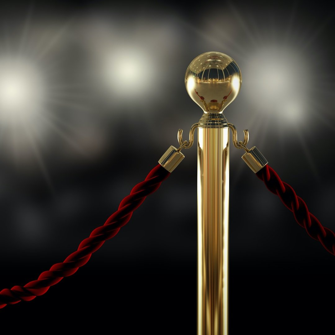 red rope of a vip access