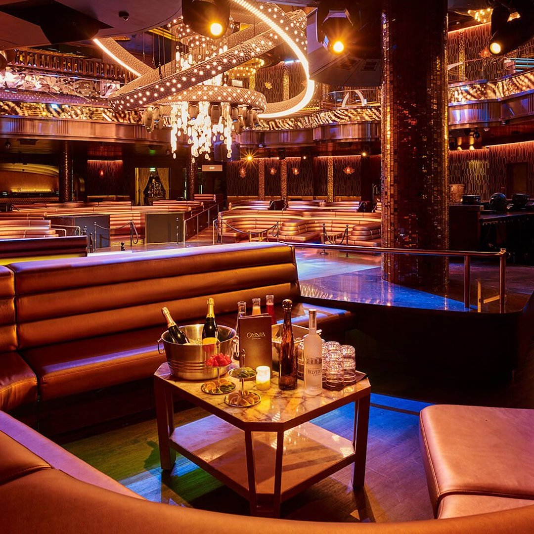 VIP table at a nightclub